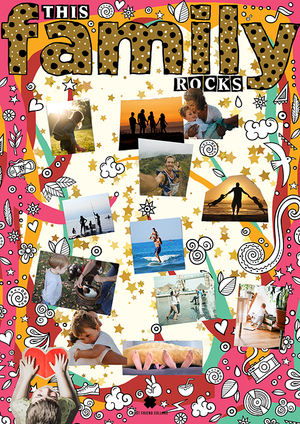 This Family Rocks Comme Glom Collage Poster - Comme Glom