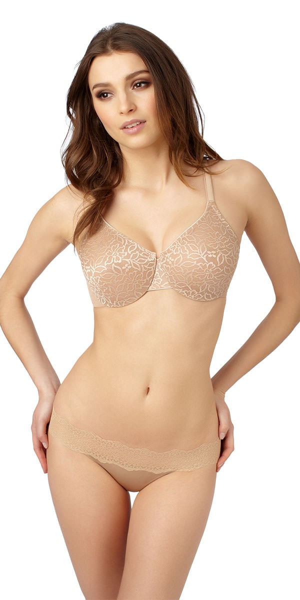 Slim Profile Minimizer Bra - Natural