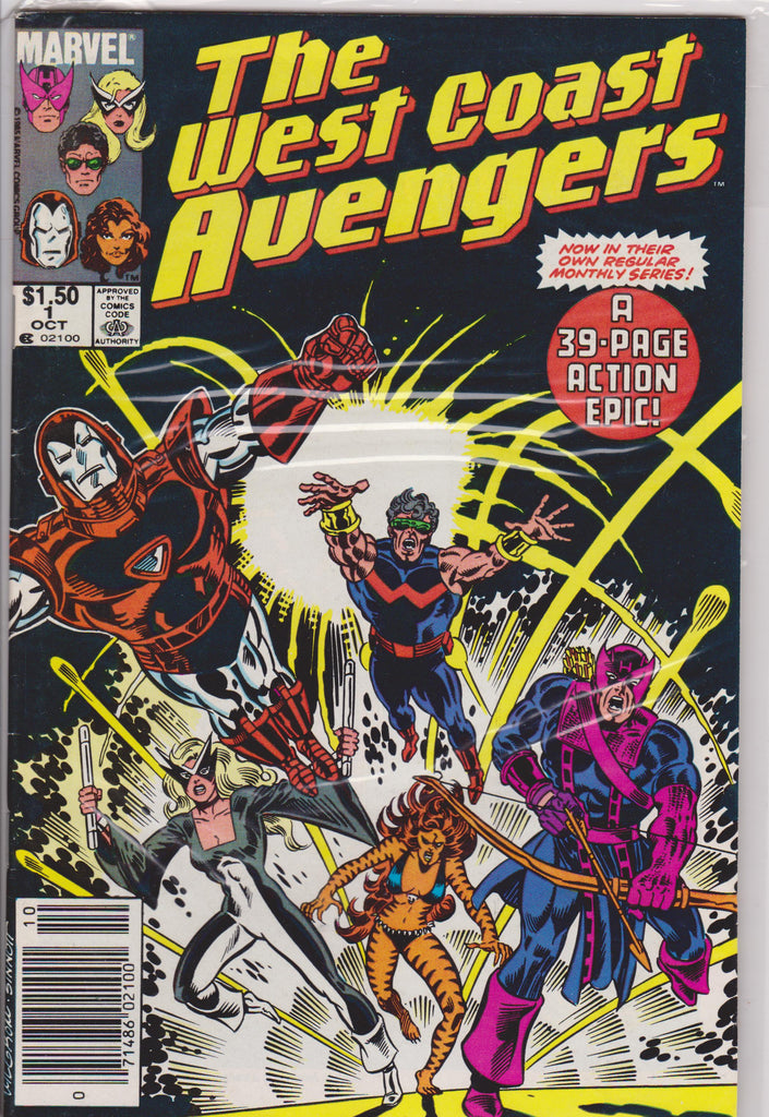 The West Coast Avengers #1 NM  9.0 - The Dragon's Tail