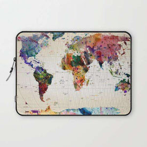 Laptop & Tablet Sleeve World Map