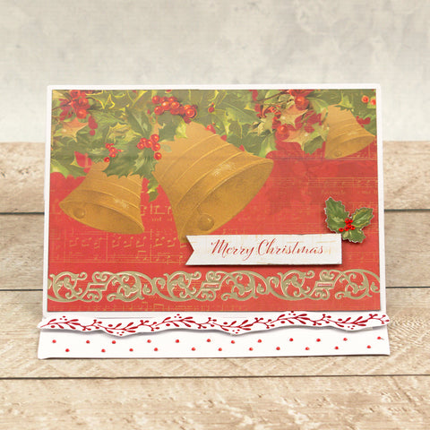 Couture Creations - Hotfoil Stamp - Naughty or Nice - Christmas Borders Set (3pc)