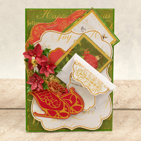 Couture Creations -  Cut, Foil and Emboss Die - Naughty or Nice - Sleigh