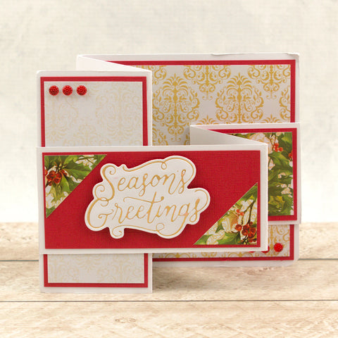 Couture Creations -  Cut, Foil and Emboss Die - Naughty or Nice - Seasons Greetings Sentiment