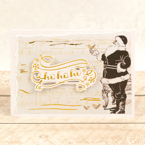 Couture Creations -  Cut, Foil and Emboss Die - Naughty or Nice - Ho Ho Ho