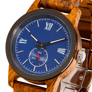 Men's Handcrafted Engraved Ambila Wood Watch