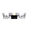 Yardbird Colby Outdoor Fire Pit Table Set with 4 Chairs Outdoor Furniture