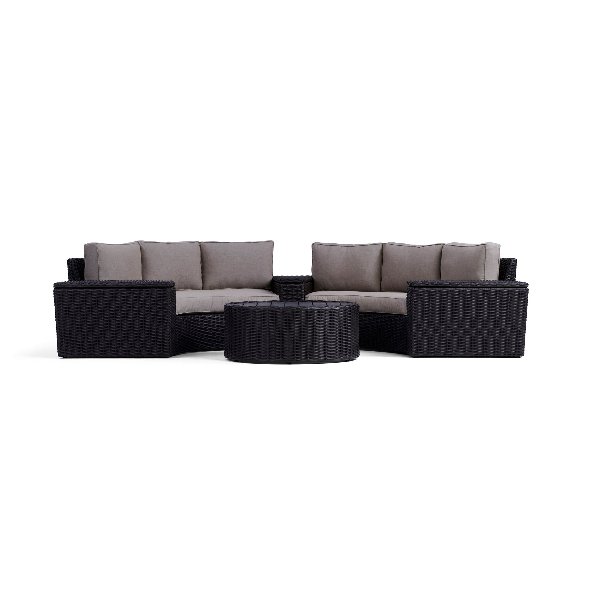 Elliot 6 Piece Round Outdoor Sectional Set Yardbird 174