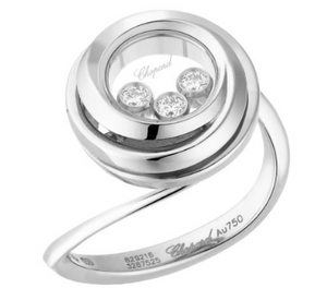 Happy Emotions Ring 18K White Gold