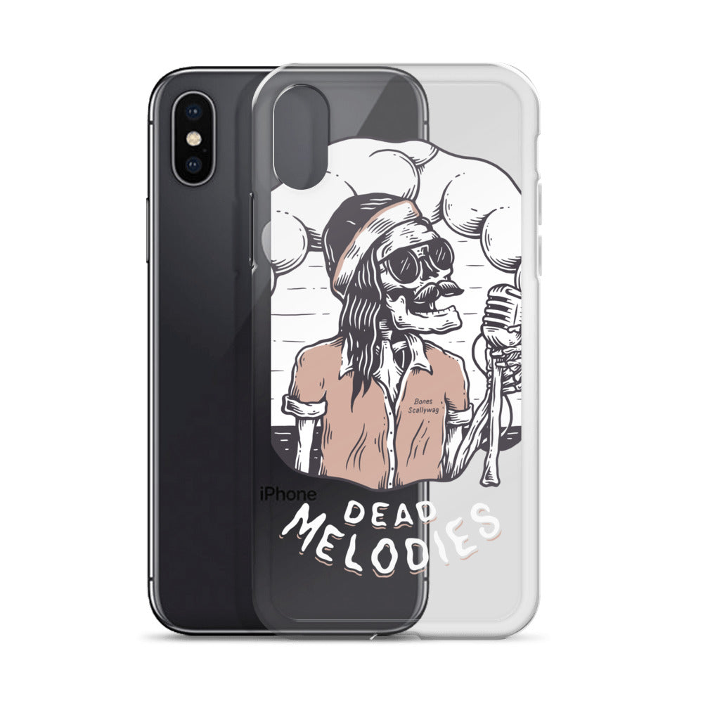 Bones Melodies Dark iPhone Case