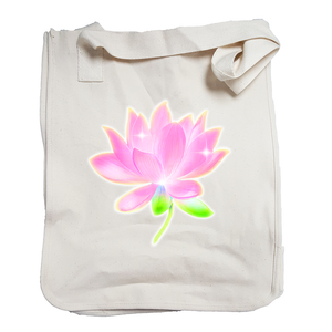 Market Tote Organic Cotton with Lotus Design in Pink