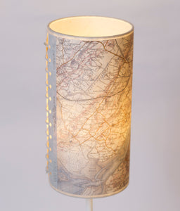 15cm(d) x 30cm(h) Drum Lamp Shade - Cassini Historical Map (1903 - 1910) OS Landranger