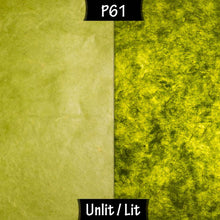 Drum Lamp Shade - P61 - Lime Lokta, 30cm(d) x 30cm(h) - Imbue Lighting