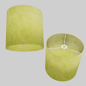 Drum Lamp Shade - P61 - Lime Lokta, 30cm(d) x 30cm(h)
