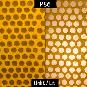 Conical Lamp Shade P86 ~ Batik Dots on Yellow, 23cm(top) x 40cm(bottom) x 31cm(height)