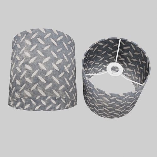 Drum Lamp Shade - P88 ~ Batik Tread Plate Grey, 20cm(d) x 20cm(h)