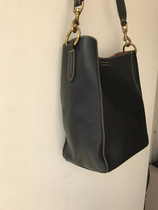 Frye black leather Harness bucket tote NWT - My Girlfriend's Wardrobe York Pa