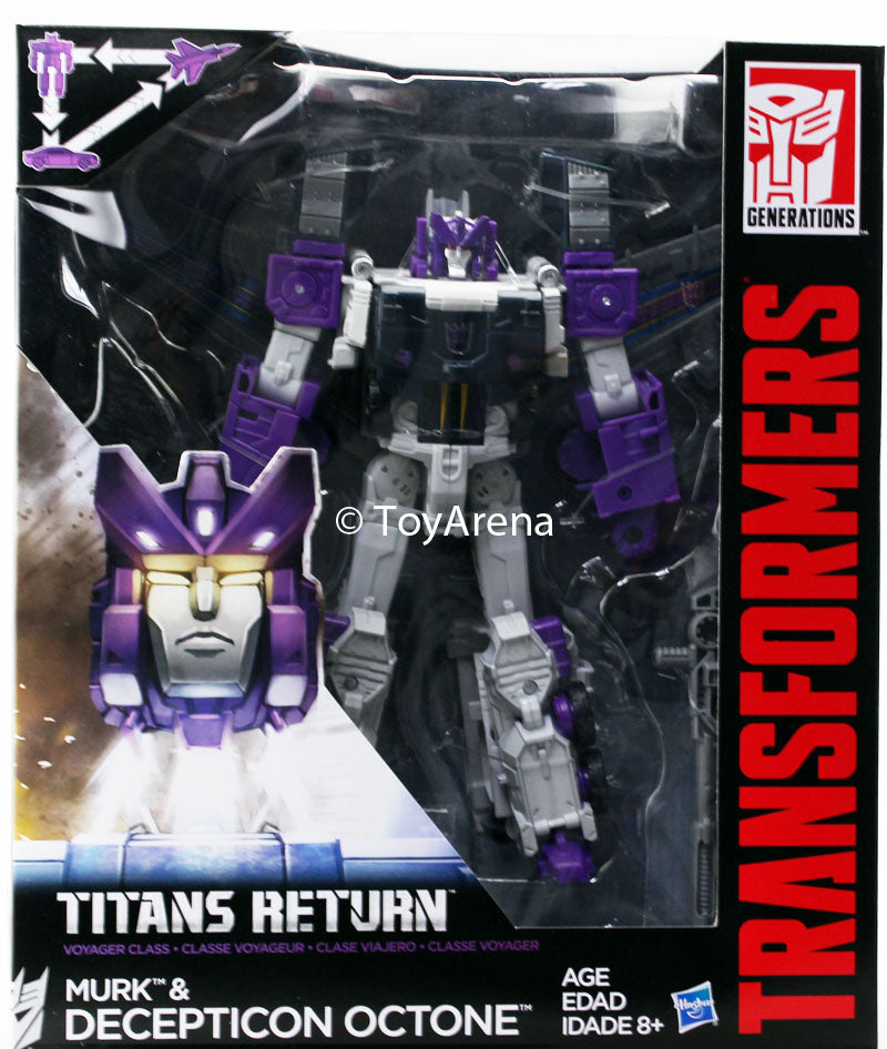 Transformers Generations Titans Return Voyager Class Murk & Octone Prime Figure