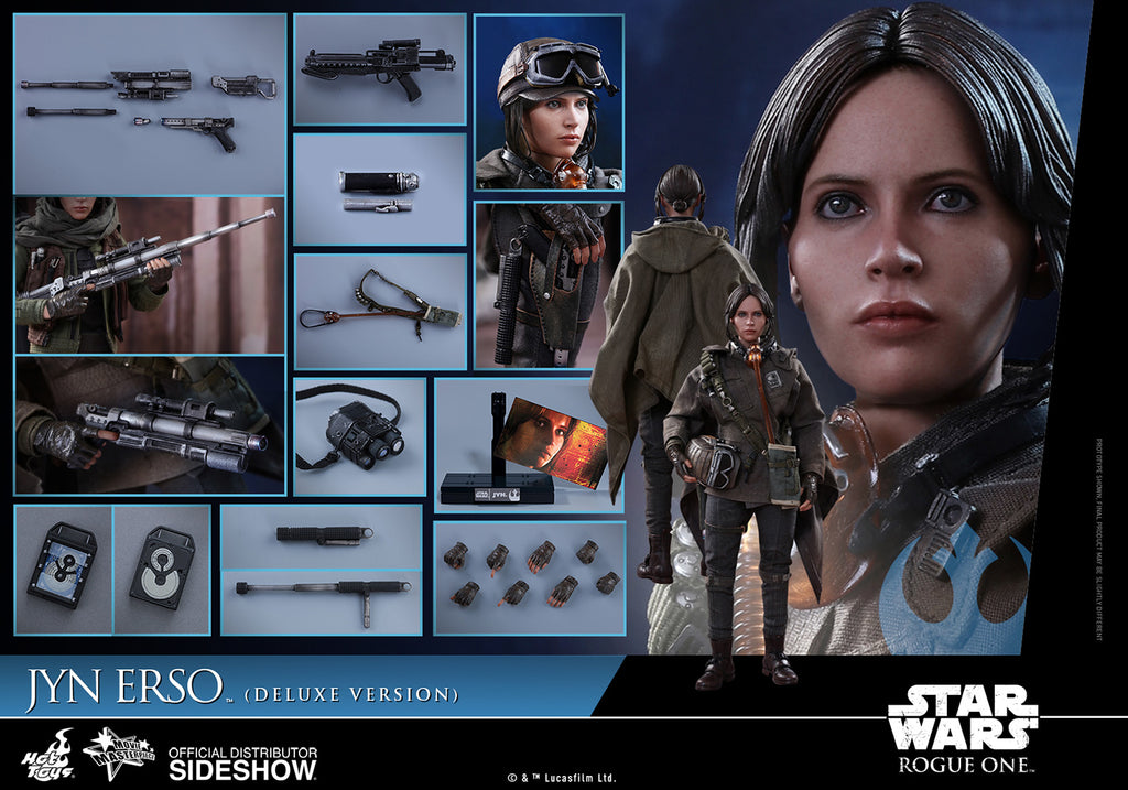 Hot Toys 1/6 Star Wars Rouge One Jyn Erso Deluxe Version Scale Figure MMS405