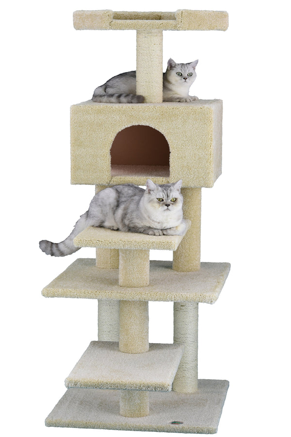 "64"" Premium Carpeted Cat Tree Furniture (LP-817)"