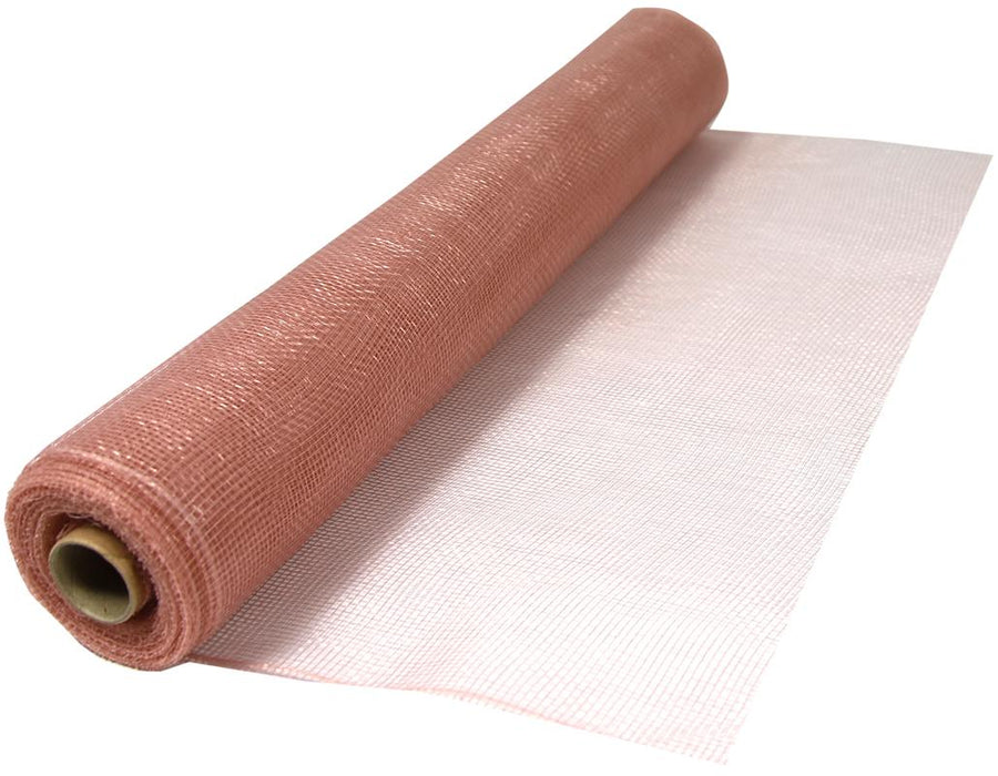 Deco Mesh 53cm x 9.1m (10yds) - Rose Gold