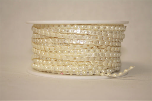 1 Roll of Half Pearl Ivory Trim 4mm x 25m