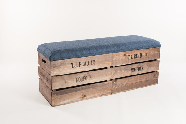 Flintstone midnight tweed storage bench