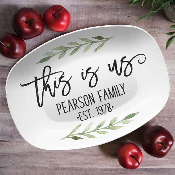 This Is Us | Custom Family Personalized Platter