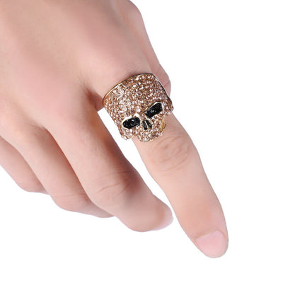 Rock Punk Gold Silver Ring