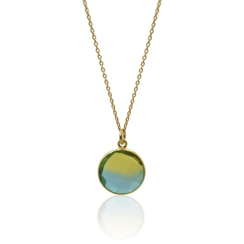 Tropical Aura Round Gold Necklace necklace