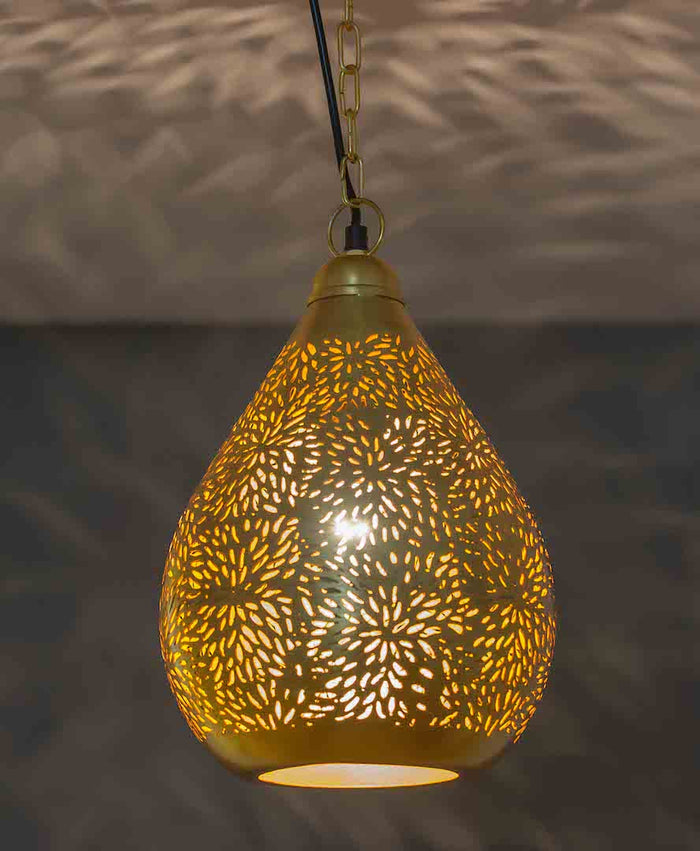 Agadir Gold Balloon Pendant-Large