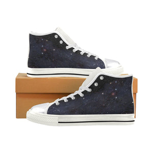 Unicorn constellation in deep space sky Women's Classic High Top Canvas Shoes (Model 017) Women's High Top Canvas Shoes (017)