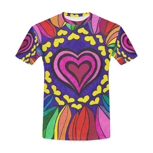 Hippie Mandala Bohemian Psychedelic Intricate Flor All Over Print T-Shirt for Men All Over Print T-Shirt for Men (T40)