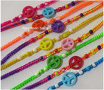 Friendship Bracelets with Peace Symbol acrylic beads