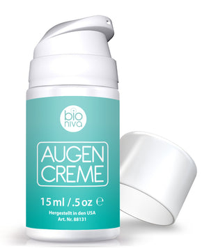 Vegan Eye Gel for Crows Feet from Bioniva Vegane Augencreme gegen Krähenfüße
