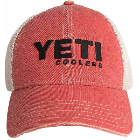 Red Washed Low-Pro Trucker Hat