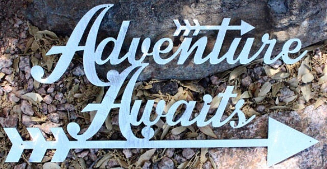 'Adventure Awaits' Nursery Sign - Dear Baby Kay