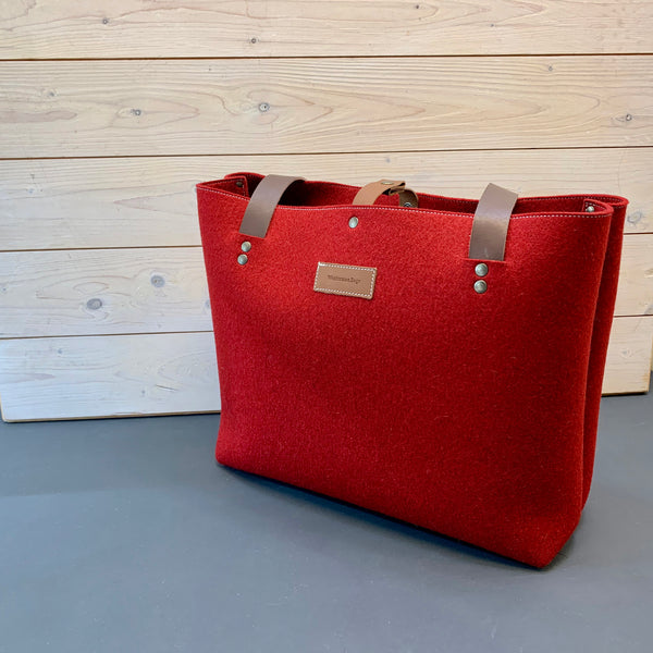 RED felt bag by westerman bags