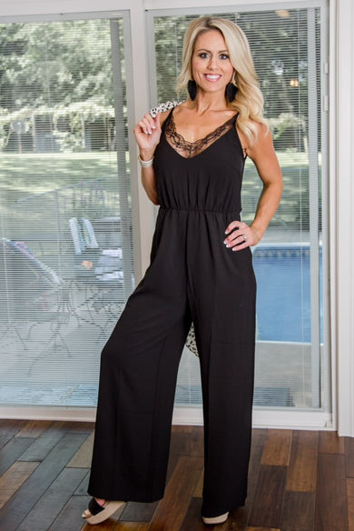 Power Move Black Jumpsuit