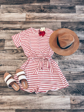Time for Fun Stripe Romper