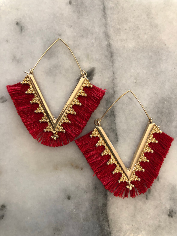 Take Me There Red Earrings