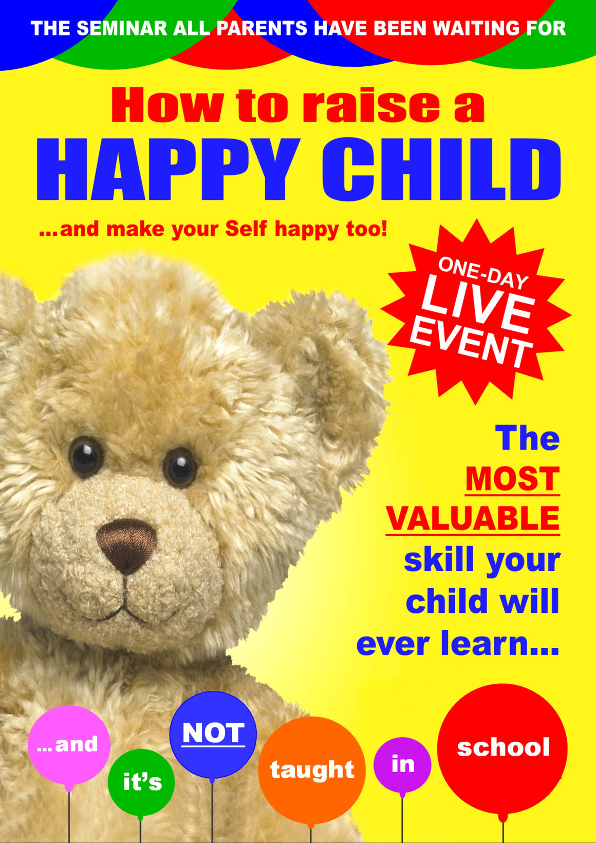 Live Event:  'How to Raise a Happy Child' one-day workshop for parents and carers
