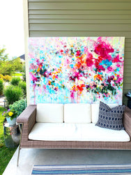 "'Enchanting' 50x70"" Original Painting"