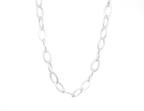 Marie Necklace - Soft Matte Silver