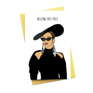 Resting Bey Face Card