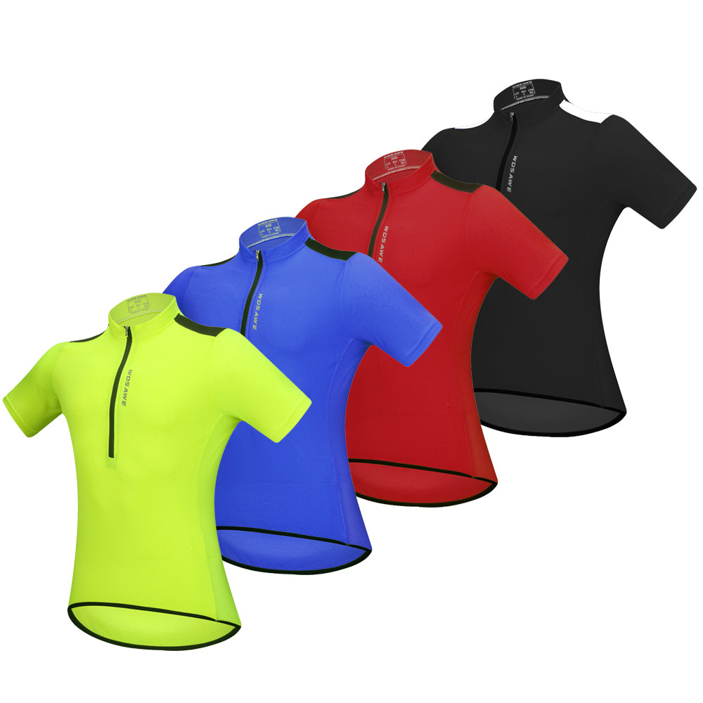 WOSAWE Men's Halp Zip Cycling Jersey Quick Drying Short Sleeves Bike Shirt
