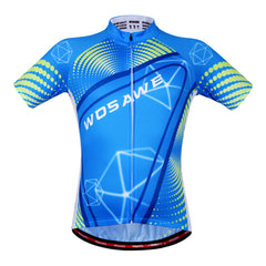 Wosawe Mens Bicycle Jersey Team Cycling Short Sleeve Top