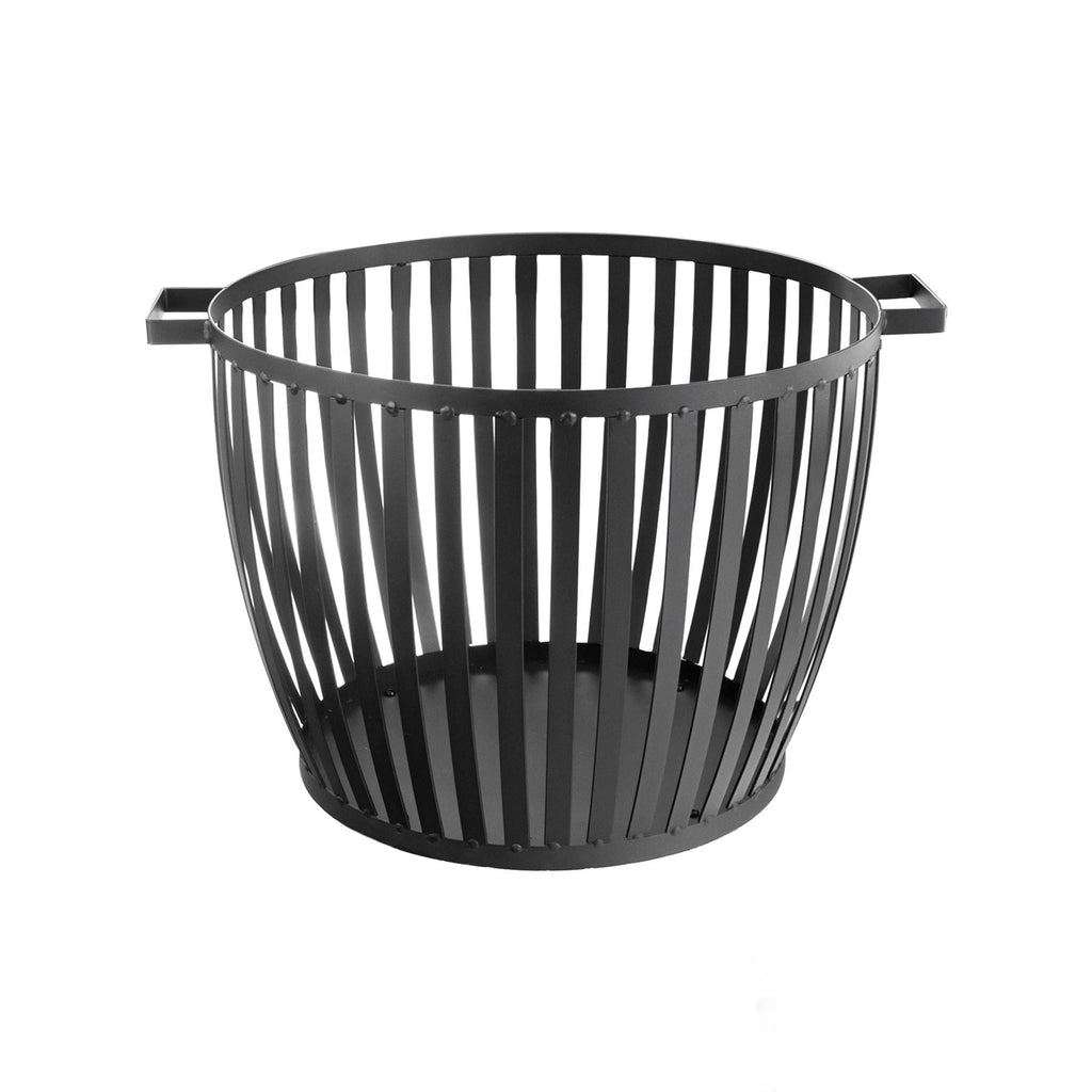 Harbour Housewares Cast Iron Firewood Log Basket - 62cm