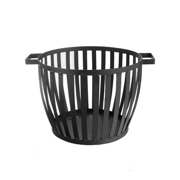 Harbour Housewares Cast Iron Firewood Log Basket - 50cm