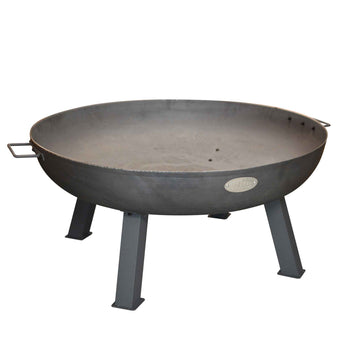 Harbour Housewares Cast Iron Garden Fire Pit Burner With Handles - 85.5cm Diameter
