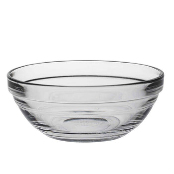 Duralex Lys Clear Stacking Glass Food Bowl - 120mm